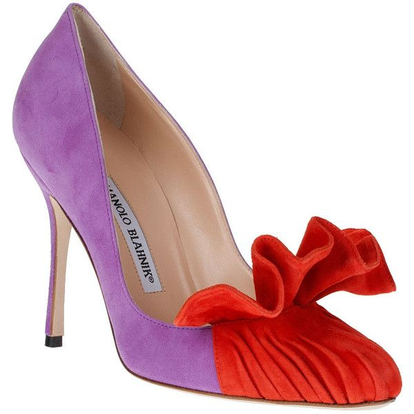 f73a1a126db Manolo Blahnik Arleti Purple Suede Pump ( 925) ❤ liked on Polyvore ...