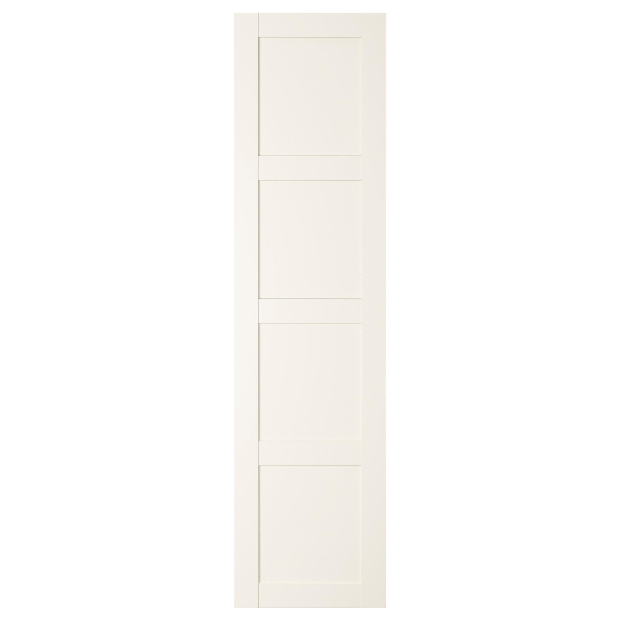 Bergsbo White Door With Hinges 50x195 Cm Ikea Hinged Wardrobe Doors Wardrobe Doors Ikea