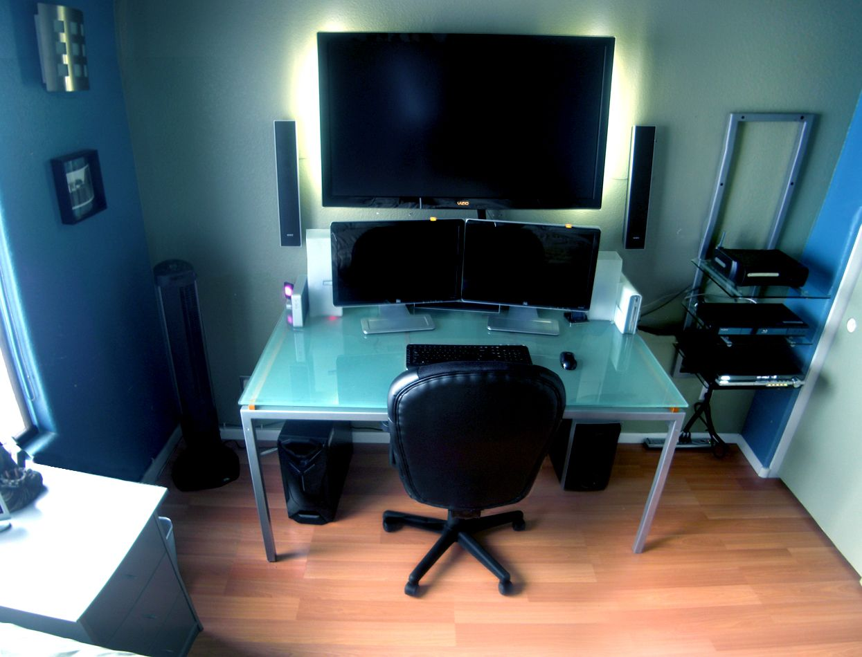 Computer Workstation Ideas I Want It For My Hq  Technology  Pinterest  Computer Setup