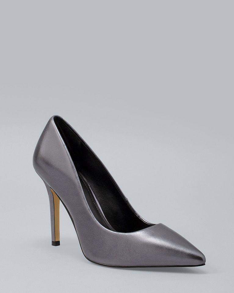 f7d25f0f6cbc Women s Olivia Metallic Leather Heels by White House Black Market