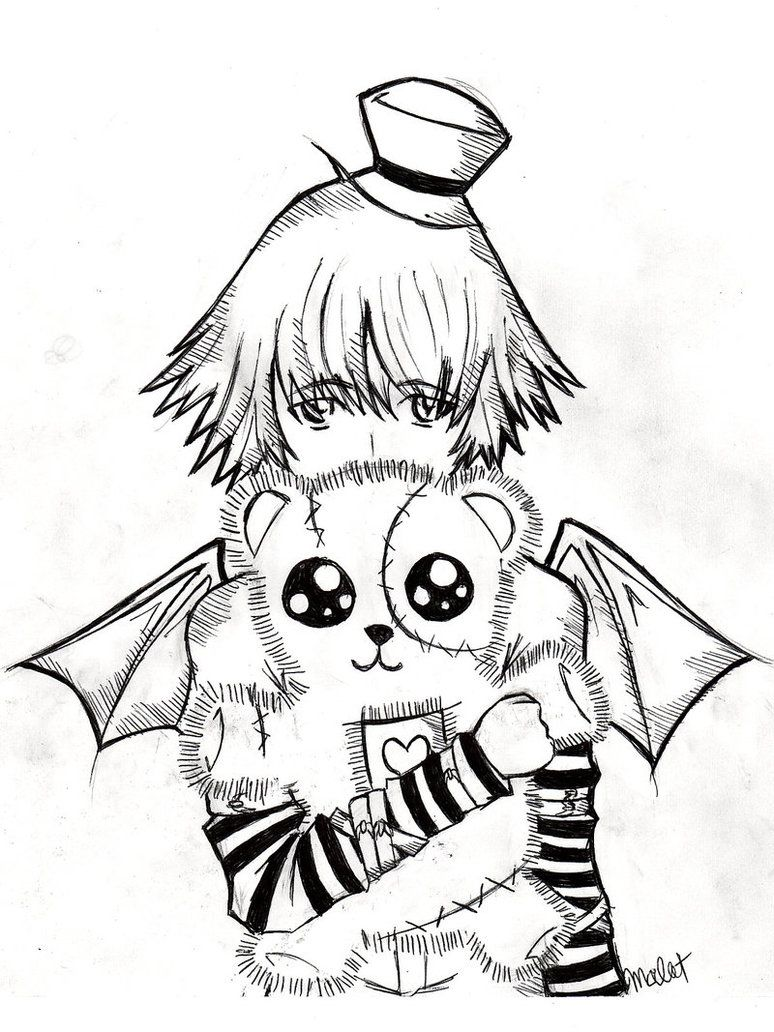 Emo Teddy Bear coloring page | Emo ausmalbilder | Pinterest ...