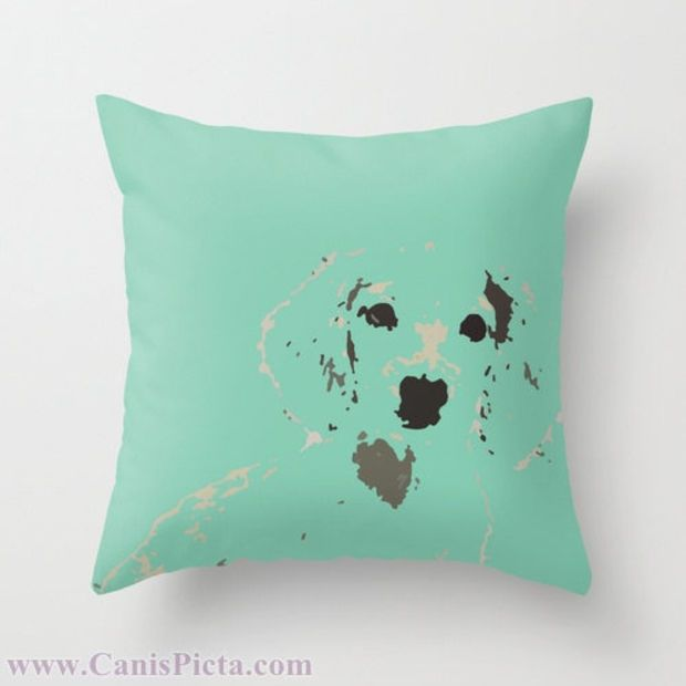 Dachshund Mint Or Pink 16 X 16 Graphic Print Throw Pillow Cover