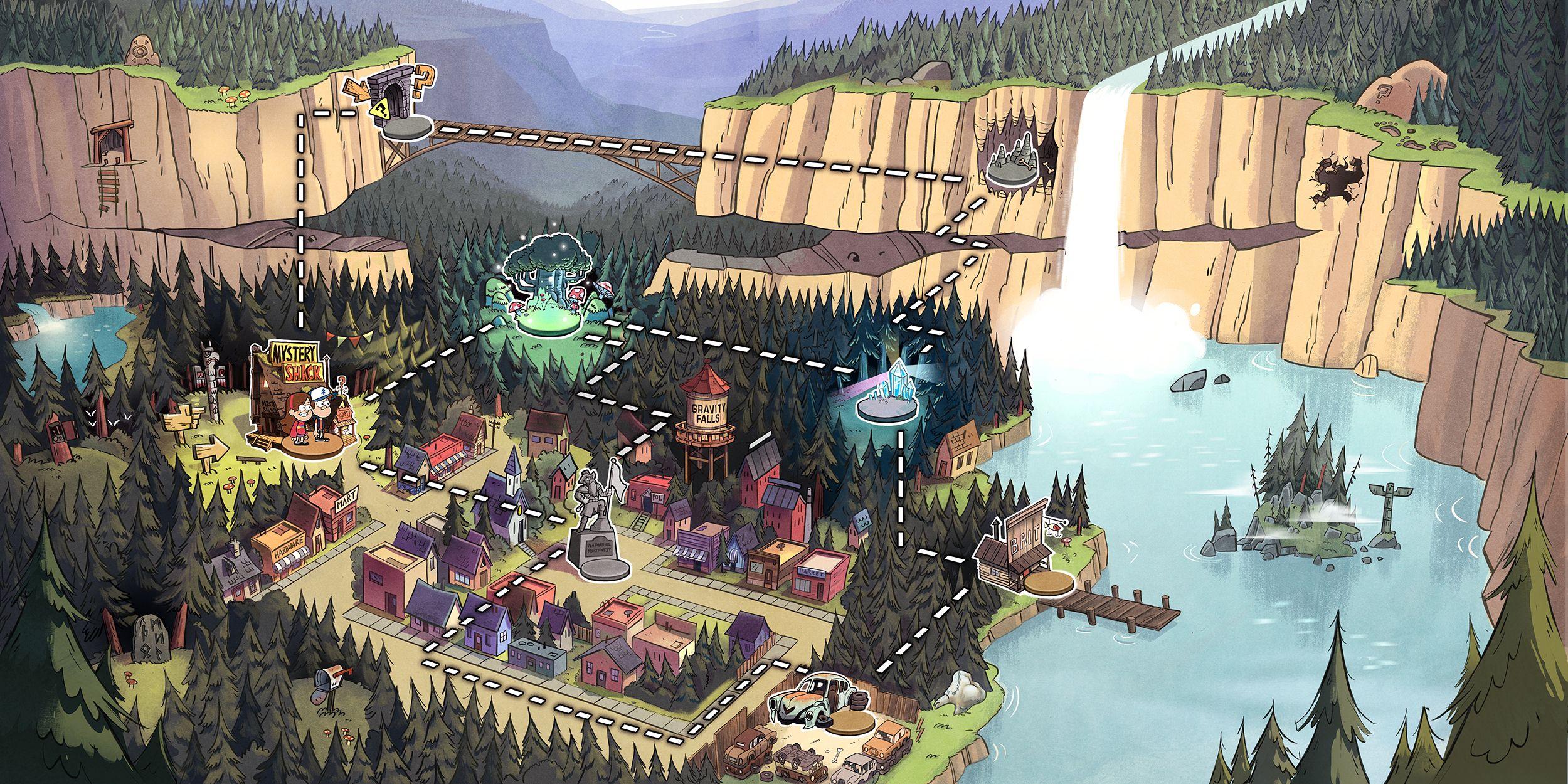 20 Gravity Falls Hd Wallpapers Backgrounds Wallpaper Abyss Gravity Falls Town Gravity Falls Gravity Falls Art