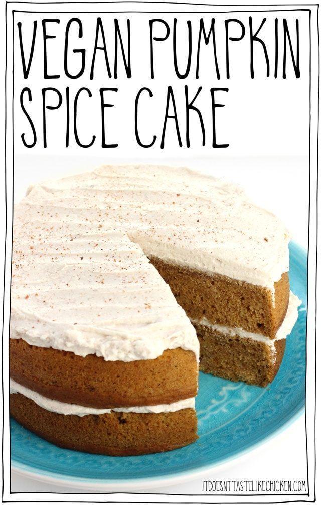 Vegan Pumpkin Spice Cake #autumnseason