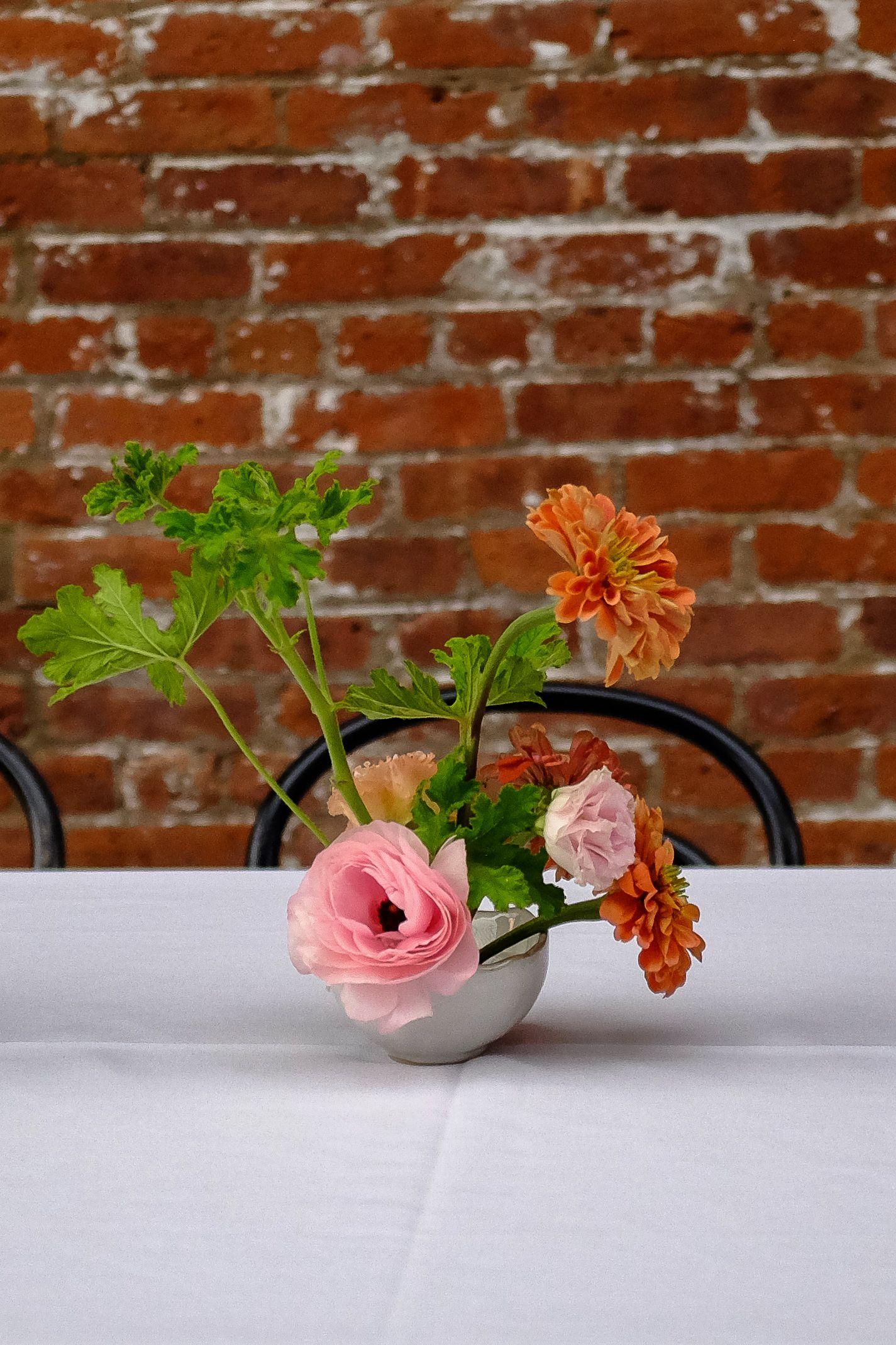 Ikebana centerpiece by rosehip social florist florist
