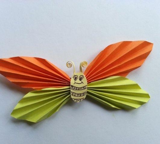 Бабочка из бумаги - Поделки с детьми | Деткиподелки