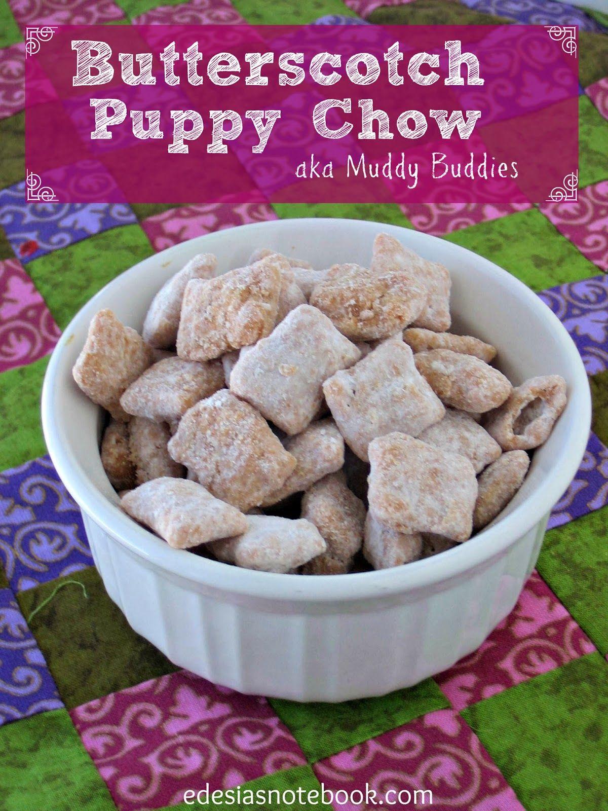 Butterscotch Puppy Chow (Muddy Buddies) Puppy chow