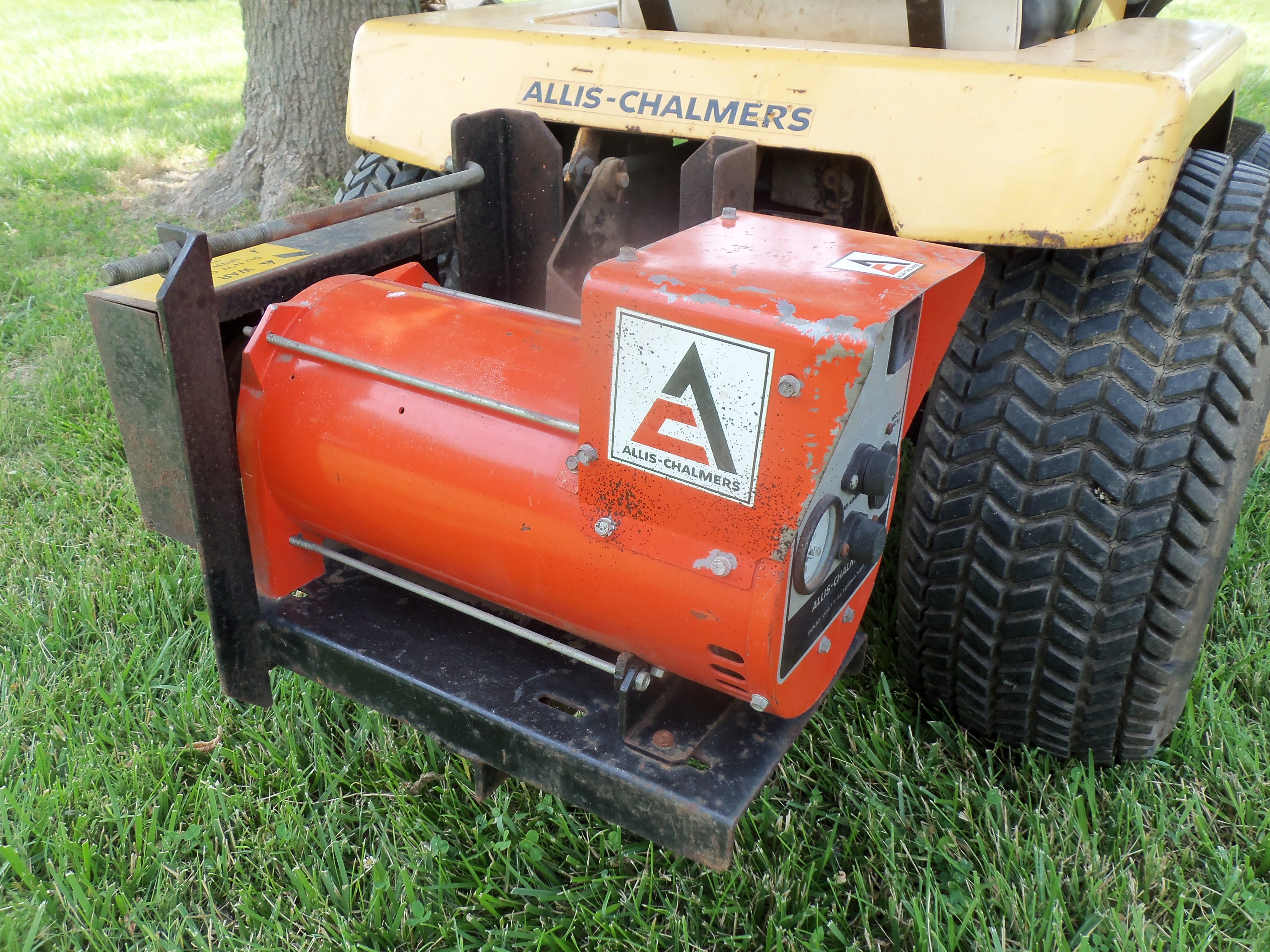 Lawn Tractor Generator : Allis chalmers generator on back of hb lawn garden