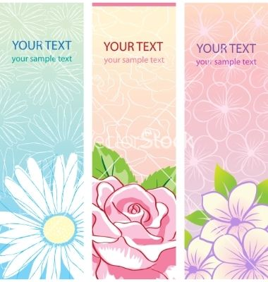 Beautiful vertical floral banners set vector 503185 - by ColorValley on VectorStock®