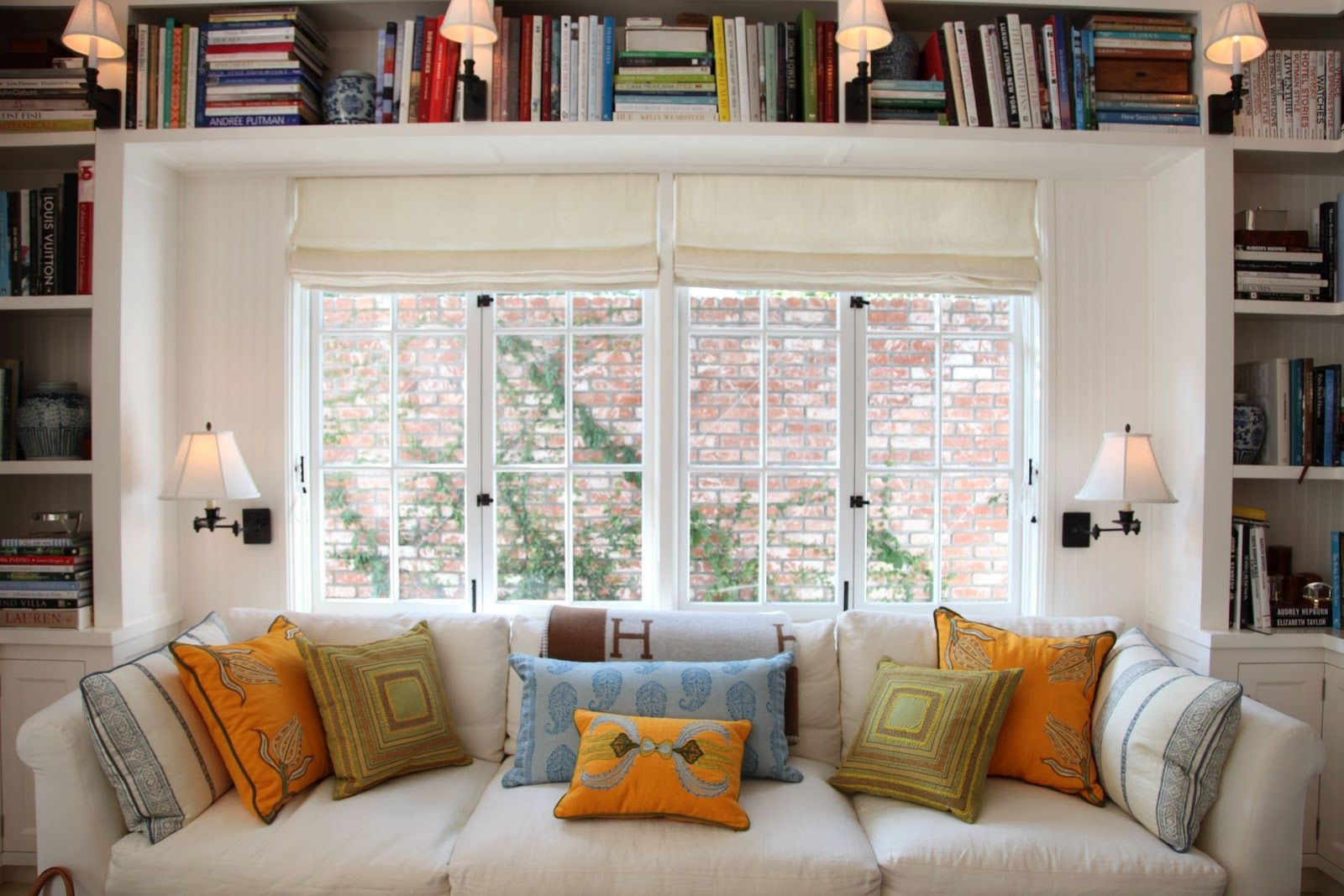 Instead Window Seat Free Standing Couch Between Bookcases Habitually Chic Hollywood