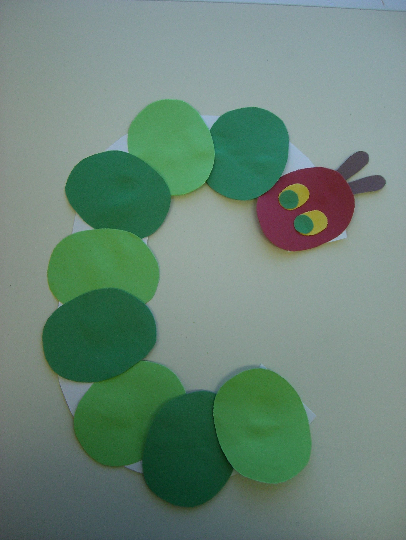 C Is For Caterpillar Preschool Alphabet Craft