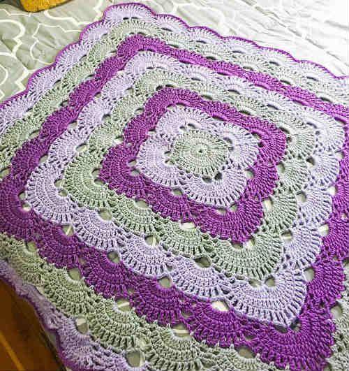 How To Crochet The Beautiful Virus Blanket Crochet Pinterest