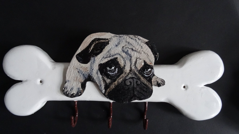 Pug Pug Dog Dog Leash Warderobe Dog Warderobe Pugs Keyboard Key Box