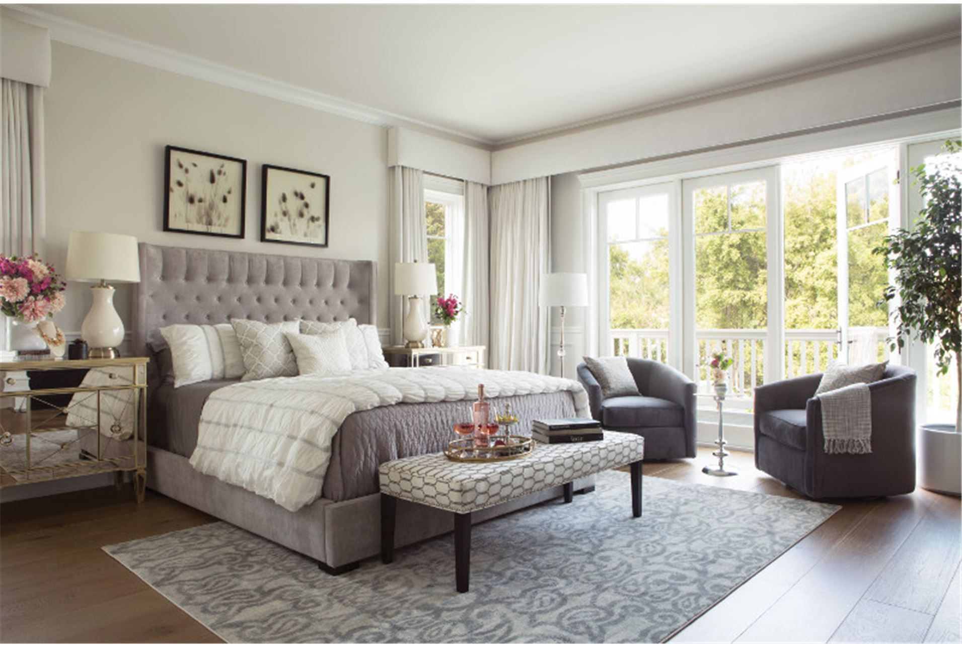 Living Spaces   87452   Room Madeline California King Upholstered Panel Bed  $1,295 5.0 Out Of