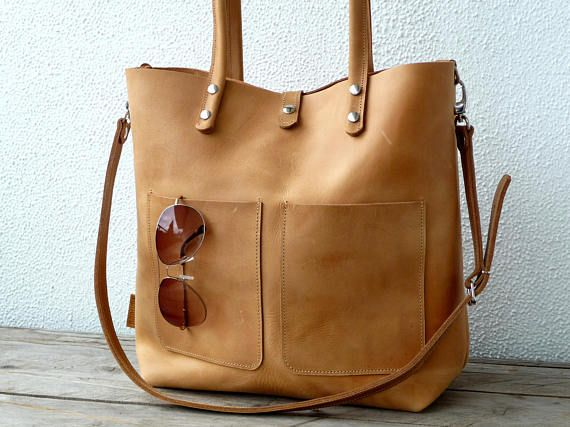 Leather bag, laptop bag for 13