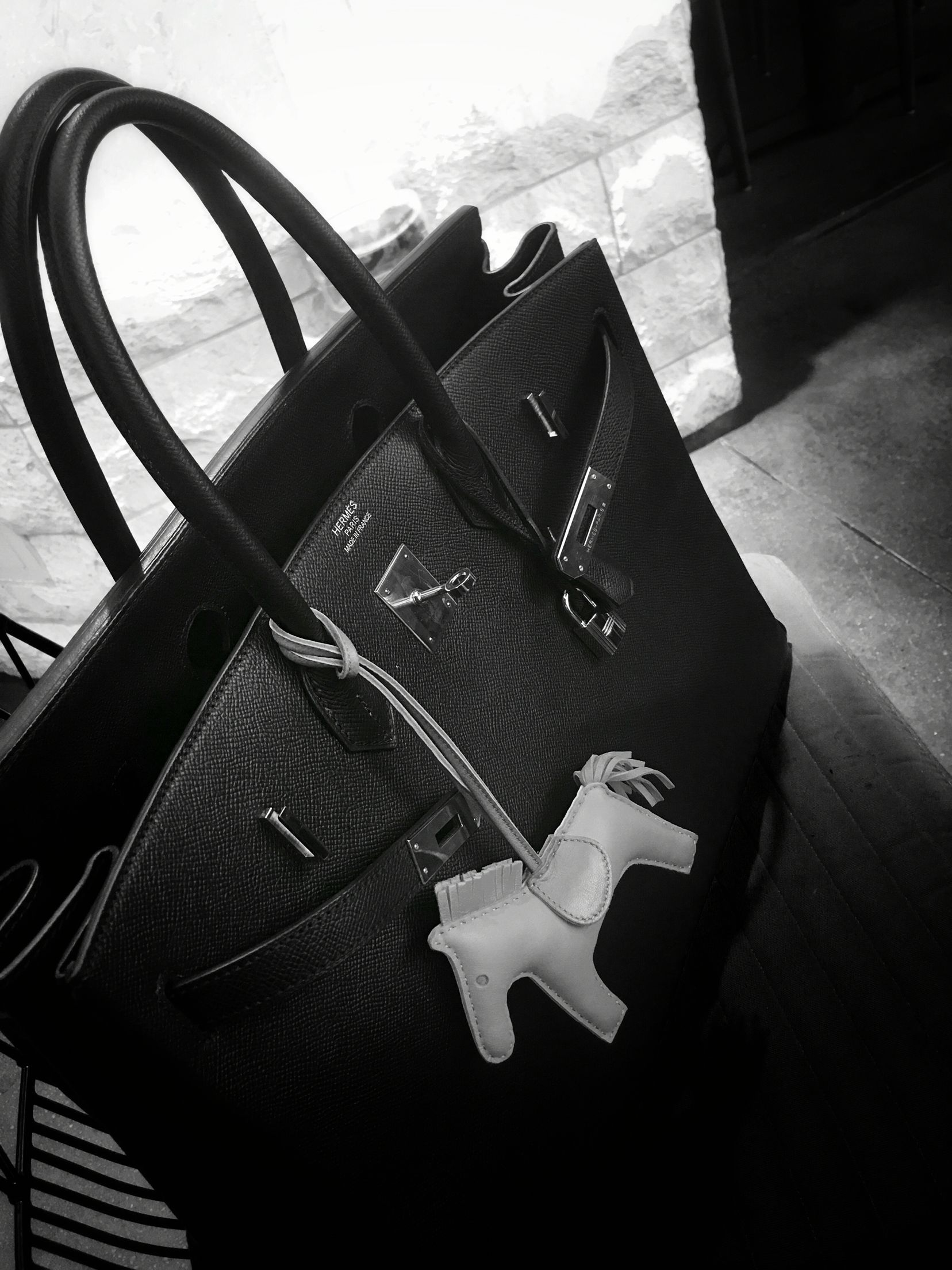 07d669d514 Hermes Birkin 40 in Noir Epsom with Rodeo Charm ❤  Classic  Coveted  Loved   madeinFrance