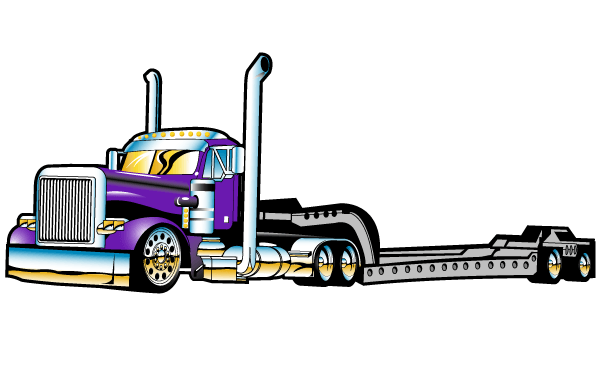 Semi Trailer Truck Outline Svg Truck Svg Truck Clipart Etsy In 2021 Semi Trailer Truck Big Rig Trucks Semi Trailer