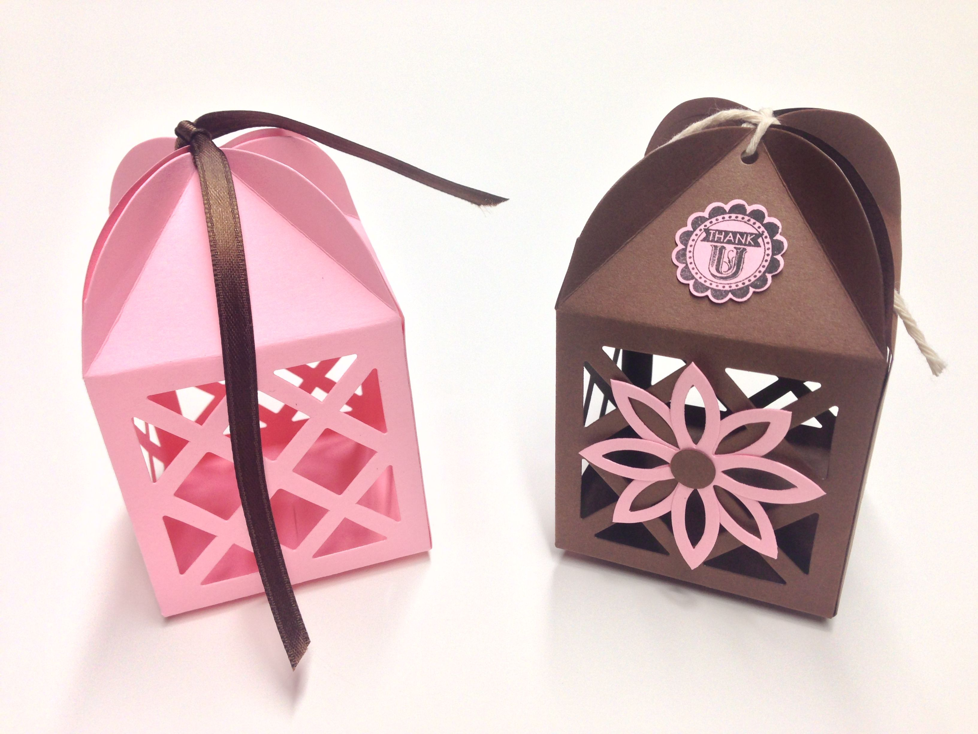 Custom favours! Lantern favours created in pink and brown! Love ...