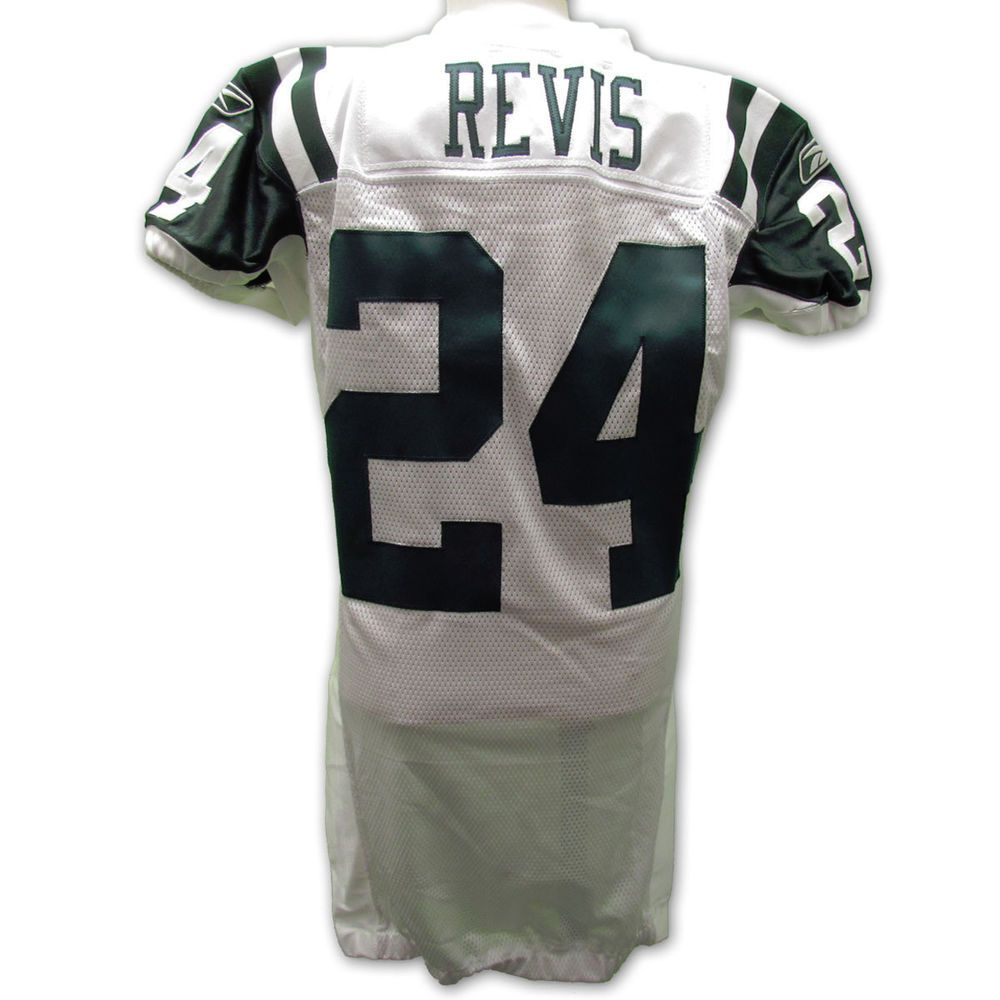 Darrelle Revis New York Jets Game Issued Jersey 2010 Nfl Season With Coa Nfl Outfits Darrelle Revis Nfl Season