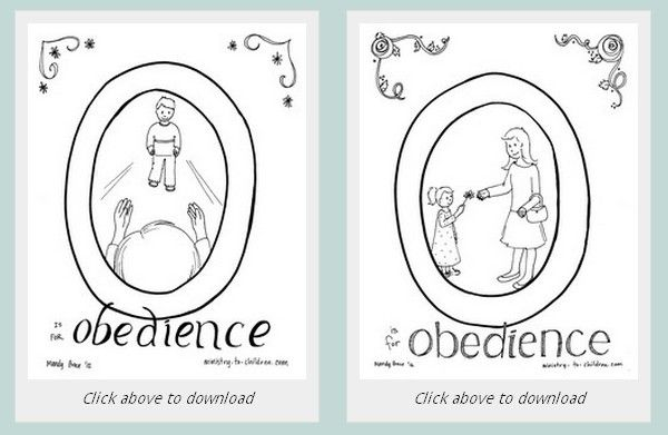 O Is For Obedience Free Printable For Kids Bible Coloring Pages
