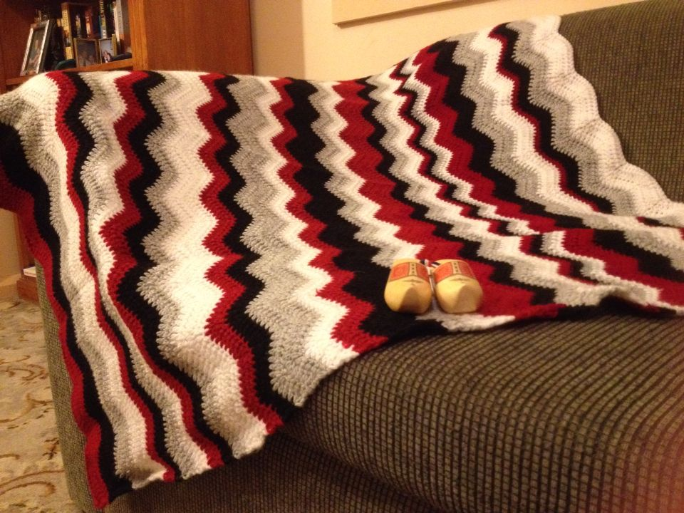 Attic 24 Neat Ripple Crochet Blanket Crochet Ripple Blanket Crochet Blanket Blanket