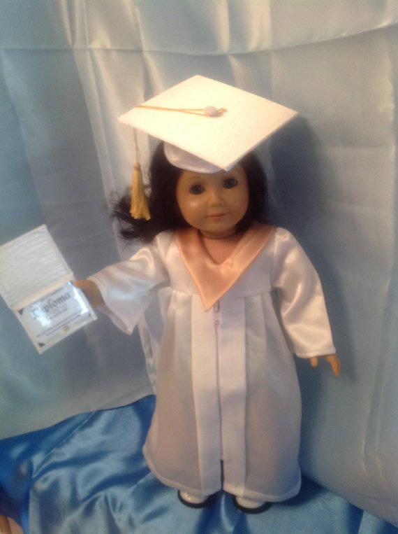 1e255cb7170 Graduation mortarboard and gown for 18 inch dolls-customize colors