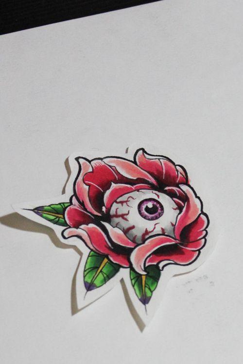 Eyeball tattoo | My Illustration of tattoo design | Tattoo drawings ...