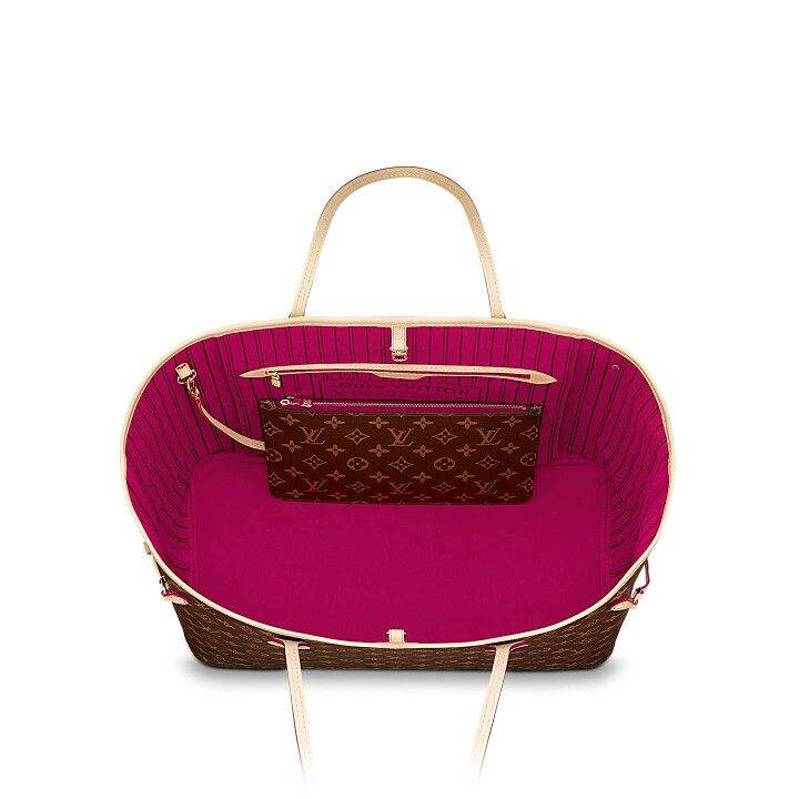 368d11a8c0 LV Neverfull MM  1770 Monogram in Hot Pink