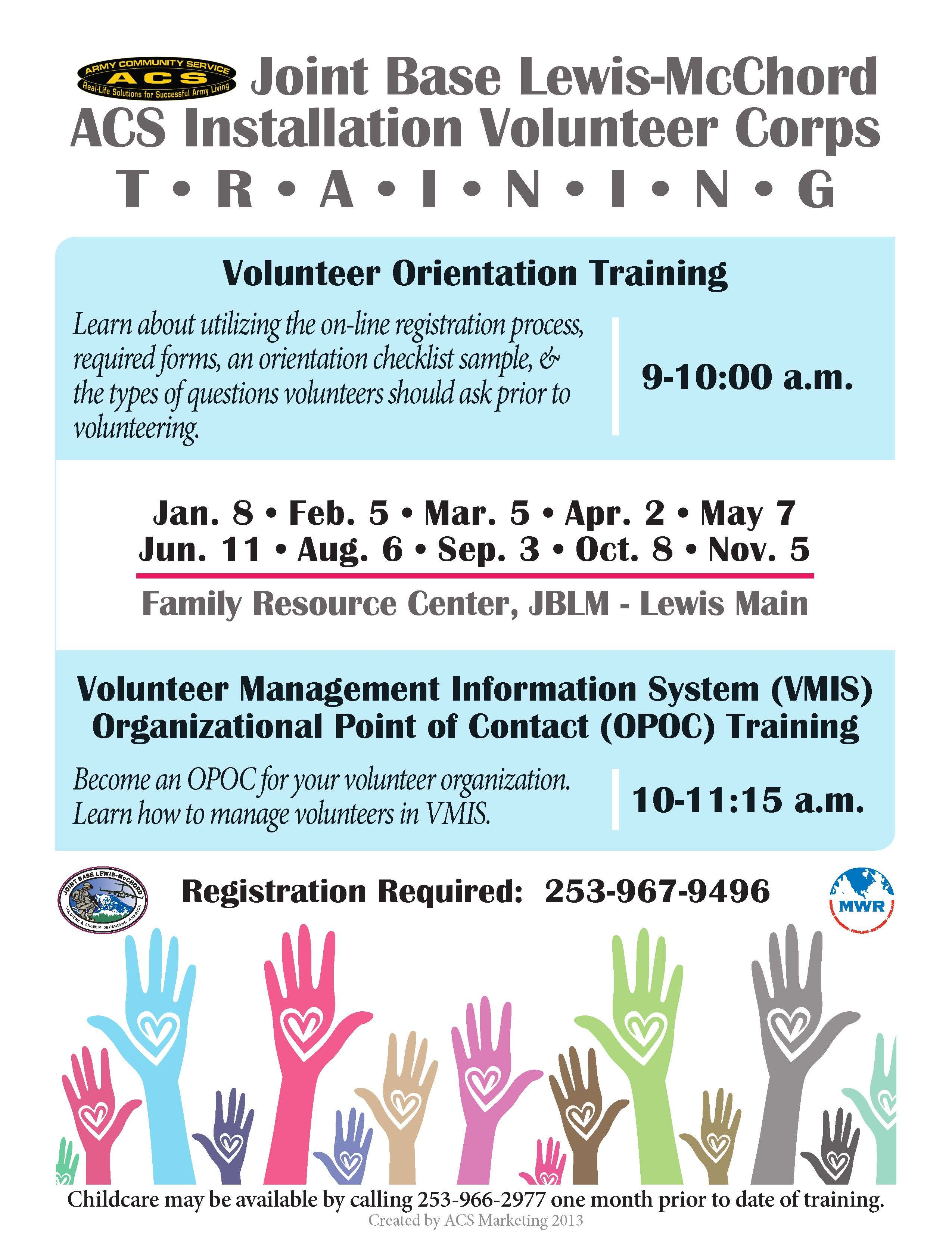 Volunteer Training Schedule for 2014 | Education & Training