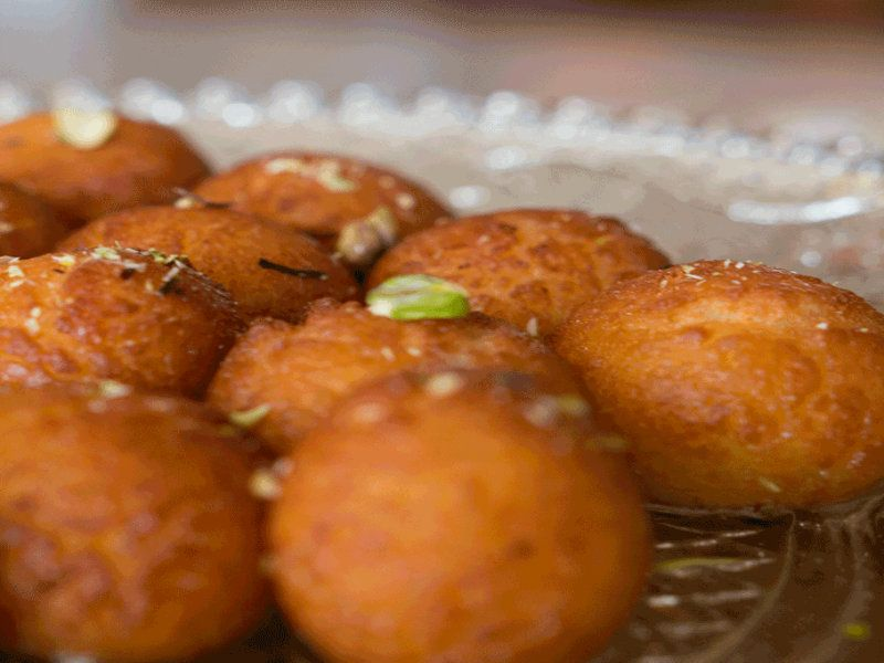 Gulab Jamuns is the most romantic of all desserts. A soft milk dumpling is soaked in a rose and cardamom scented sugar syrup. Pure decadence. Presented by Karen Ahmed for Kravings