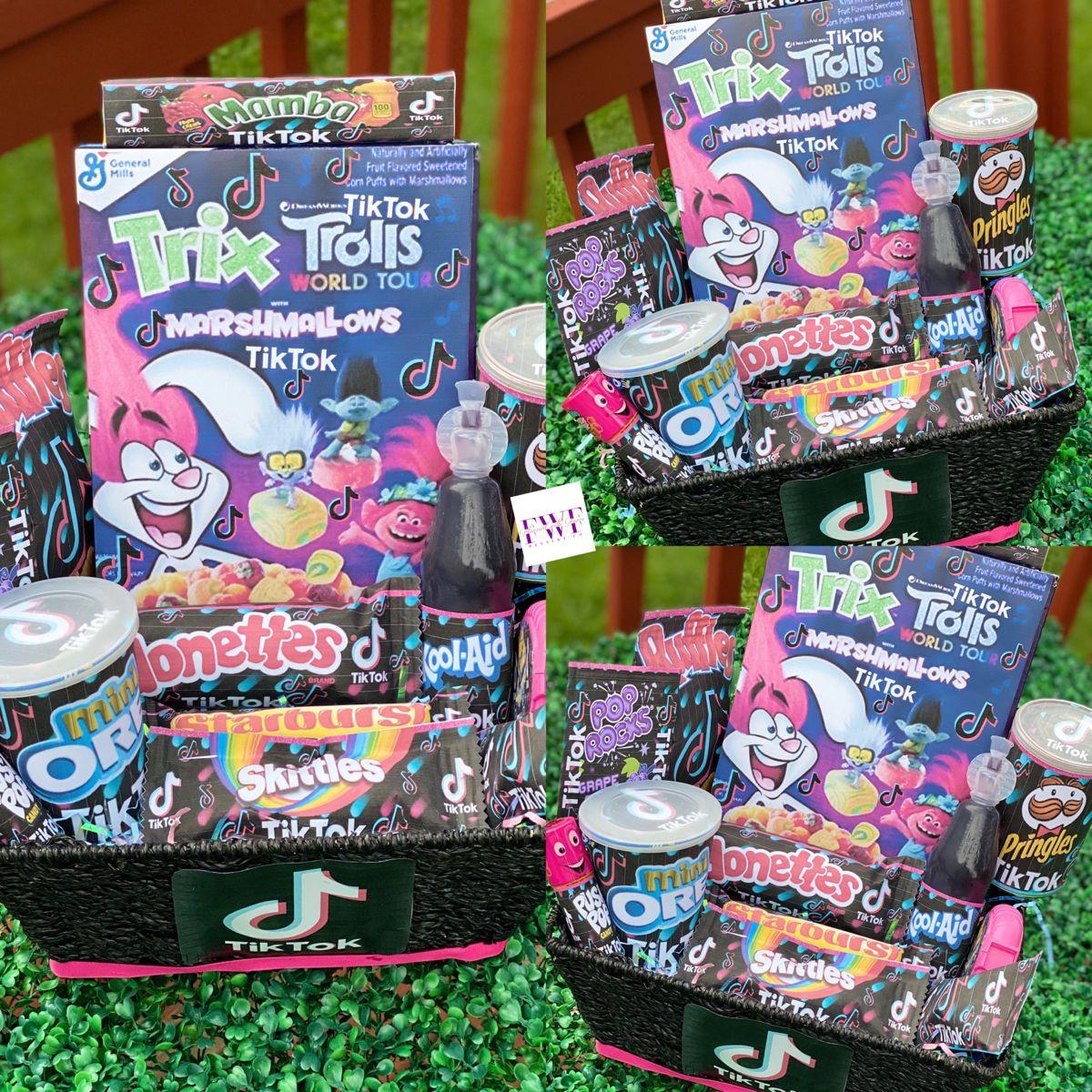Tiktok Themed Birthday Basket Birthday Basket Easter Baskets Baskets Boxes