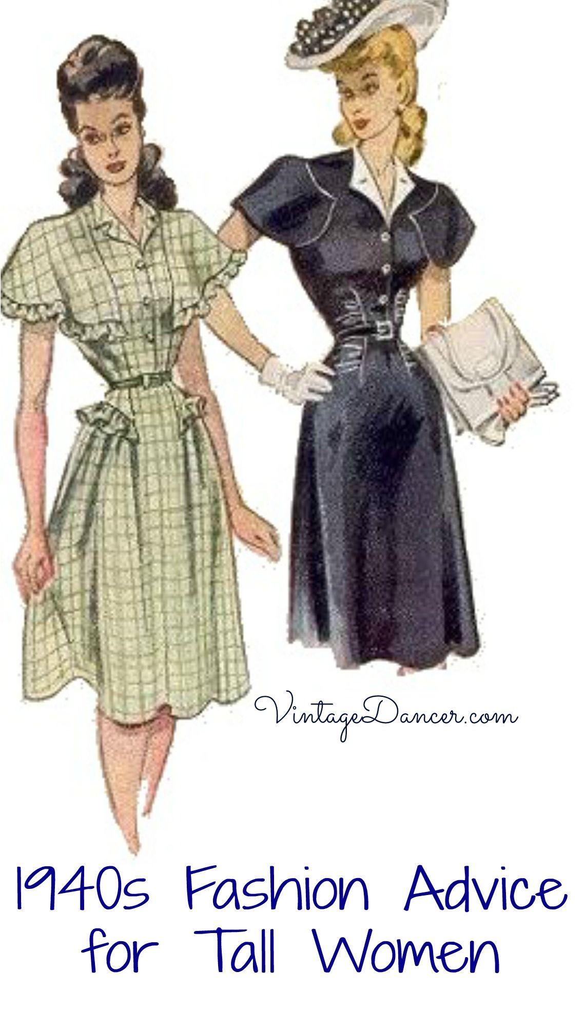 1940s Fashion Advice for Tall Women | Vintage Fashion ...