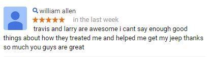 Thanks William!  #CustomerService #AllenSamuelsChryslerDodgeJeepRam