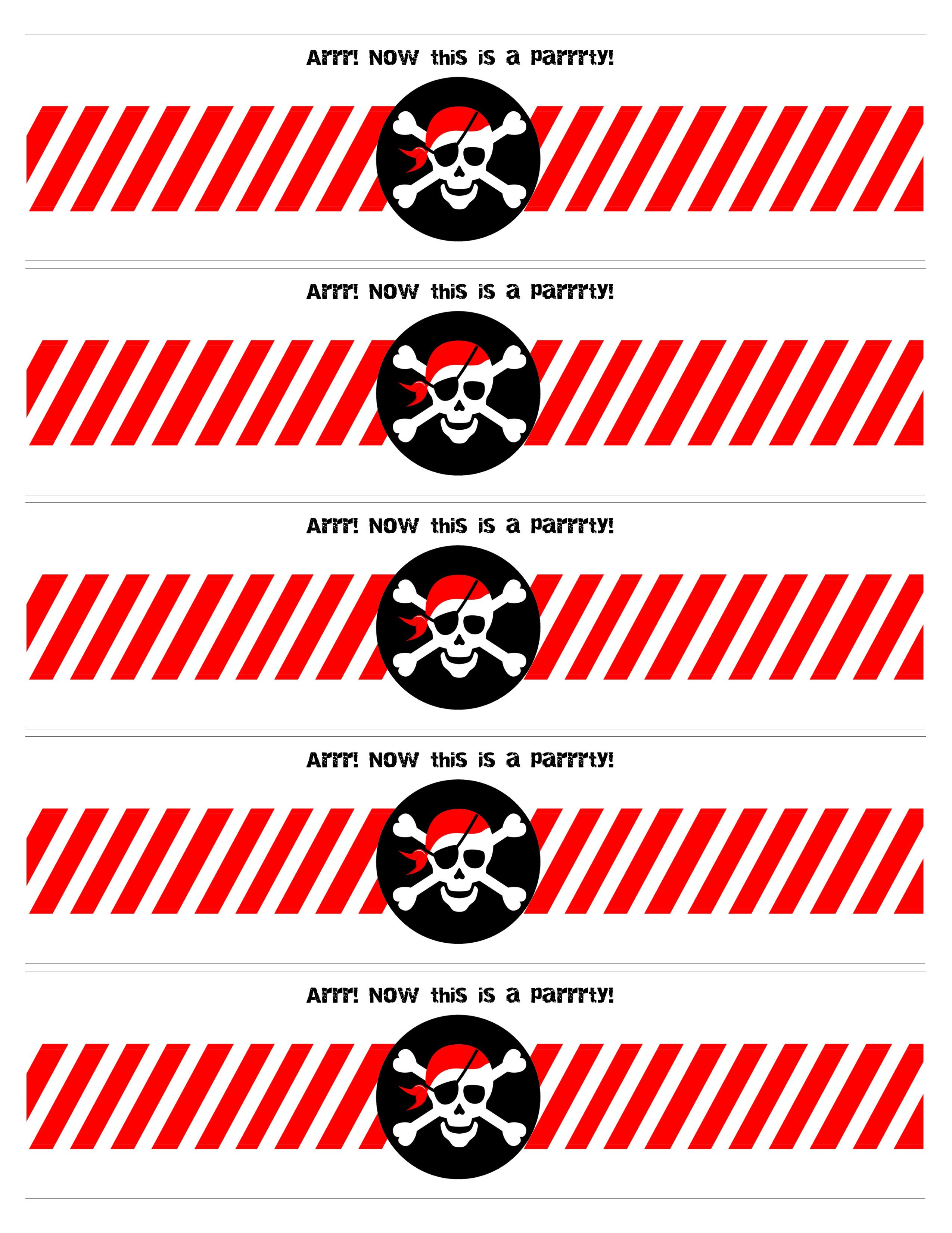 Pirate Themed Birthday Party with FREE Printables | Piratenparty ...