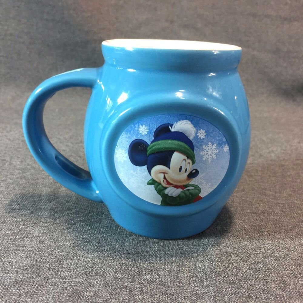 Mickey Mouse Disney Coffee Mug Cup Blue Ceramic Snow Stocking Cap Vented Handle #Disney #disneycoffeemugs Mickey Mouse Disney Coffee Mug Cup Blue Ceramic Snow Stocking Cap Vented Handle #Disney #disneycoffeemugs