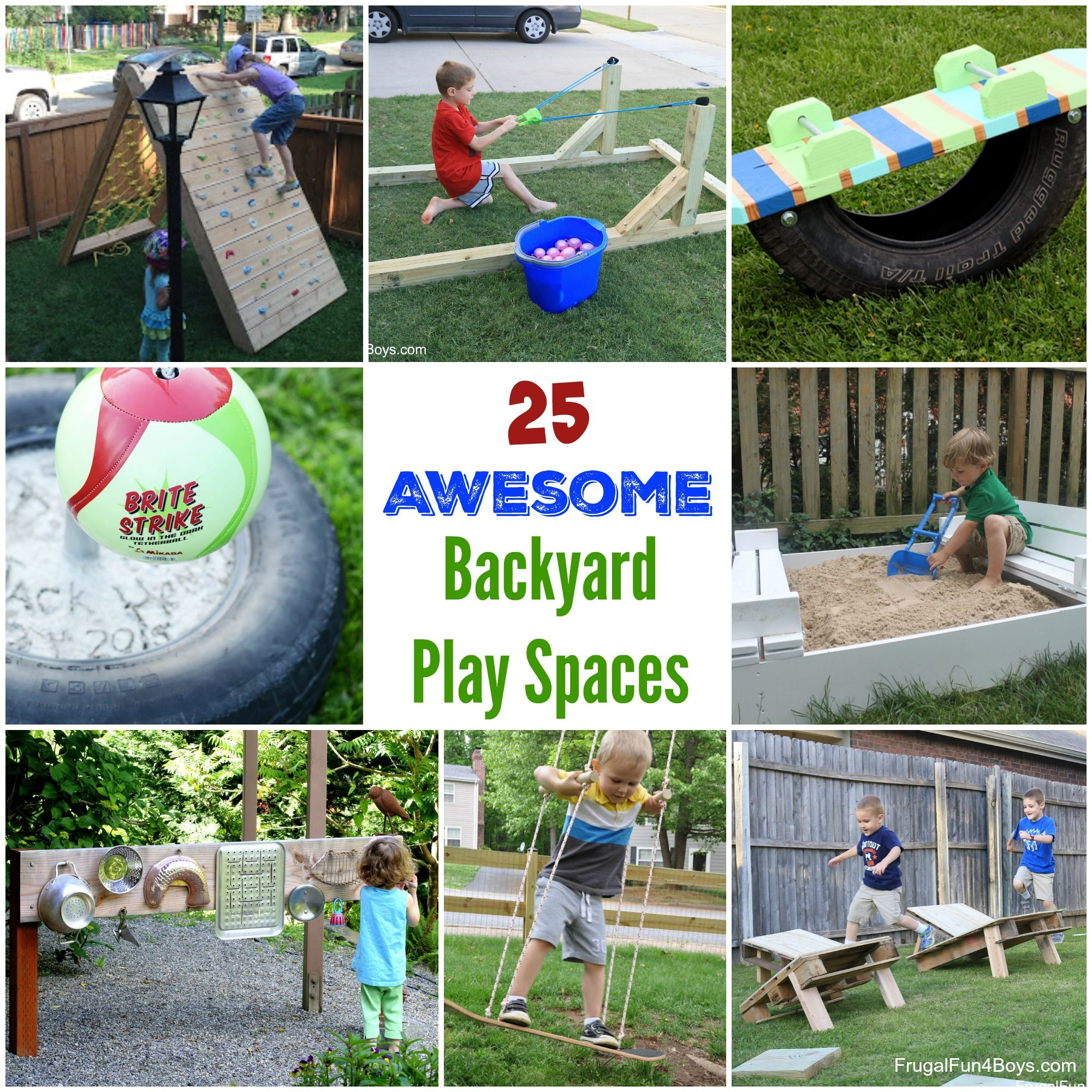 25 Awesome Backyard Play Spaces   Build Climbing Structures, Outdoor Toys,  And More!