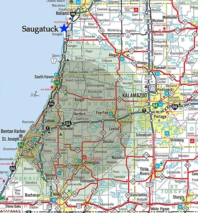 Maps Of Sw Michigan Southwest Michigan Jet Ski Rental