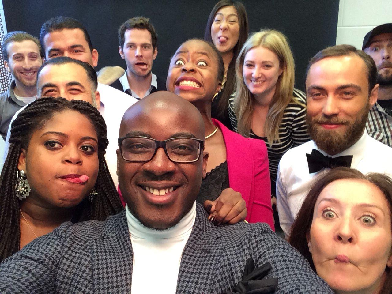 Fun selfie after the James Middleton shoot