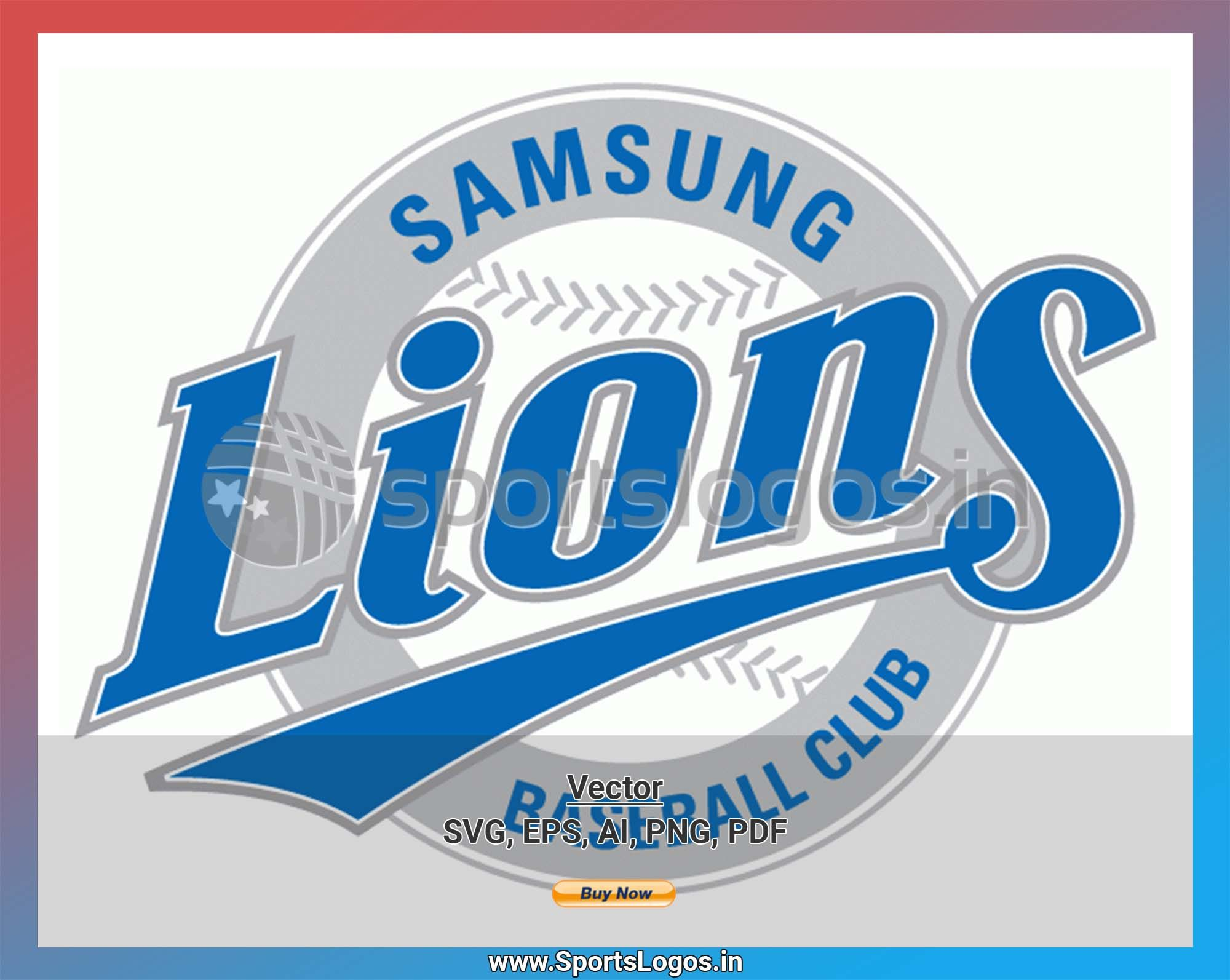 Samsung Lions Daegu Baseball Sports Vector Svg Logo In 5 Formats Spln003779 Sports Logos Embroidery Vector For Nfl Nba Nhl Mlb Milb And More In 2020 Embroidery Logo Sports Baseball Baseball