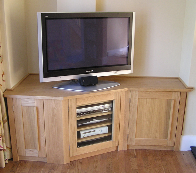 oak tv corner unit | LR storage in 2019 | Corner tv unit ...