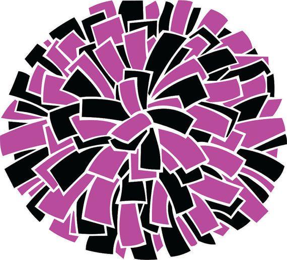two color pom pom svg vector cutting file instant digital download t
