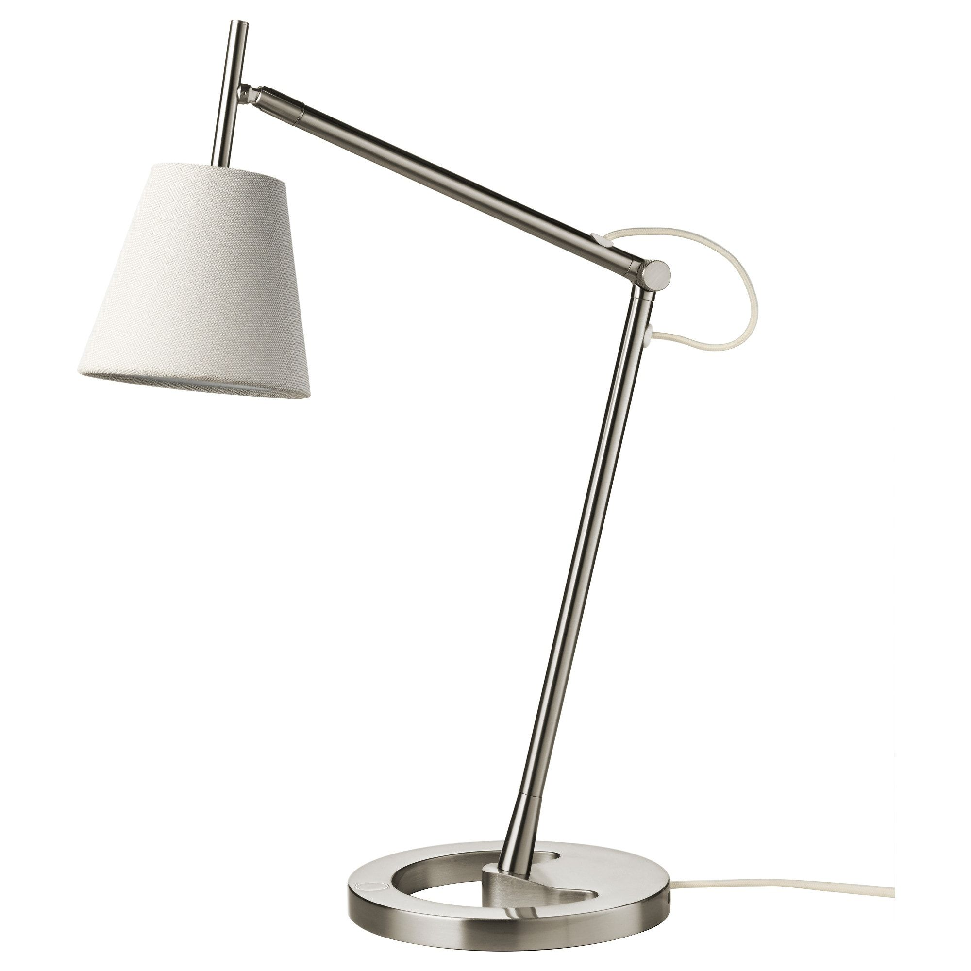 IKEA NYFORS Work lamp nickel plated white | Work lamp