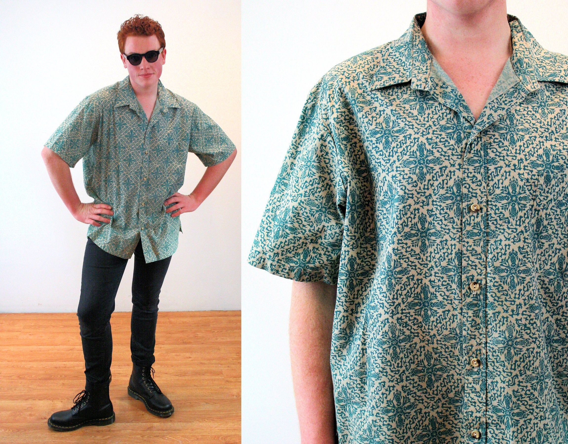 Gant Men V neck Short Sleeve Slim Fit Cotton Jersey Summer T shirt Tee M L 2XL