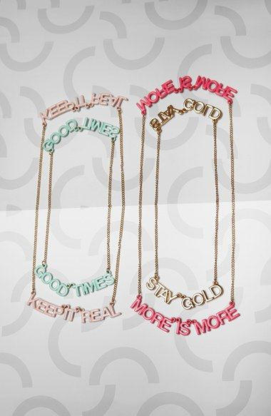 party banner necklaces! POP-IN at Nordstrom.com.
