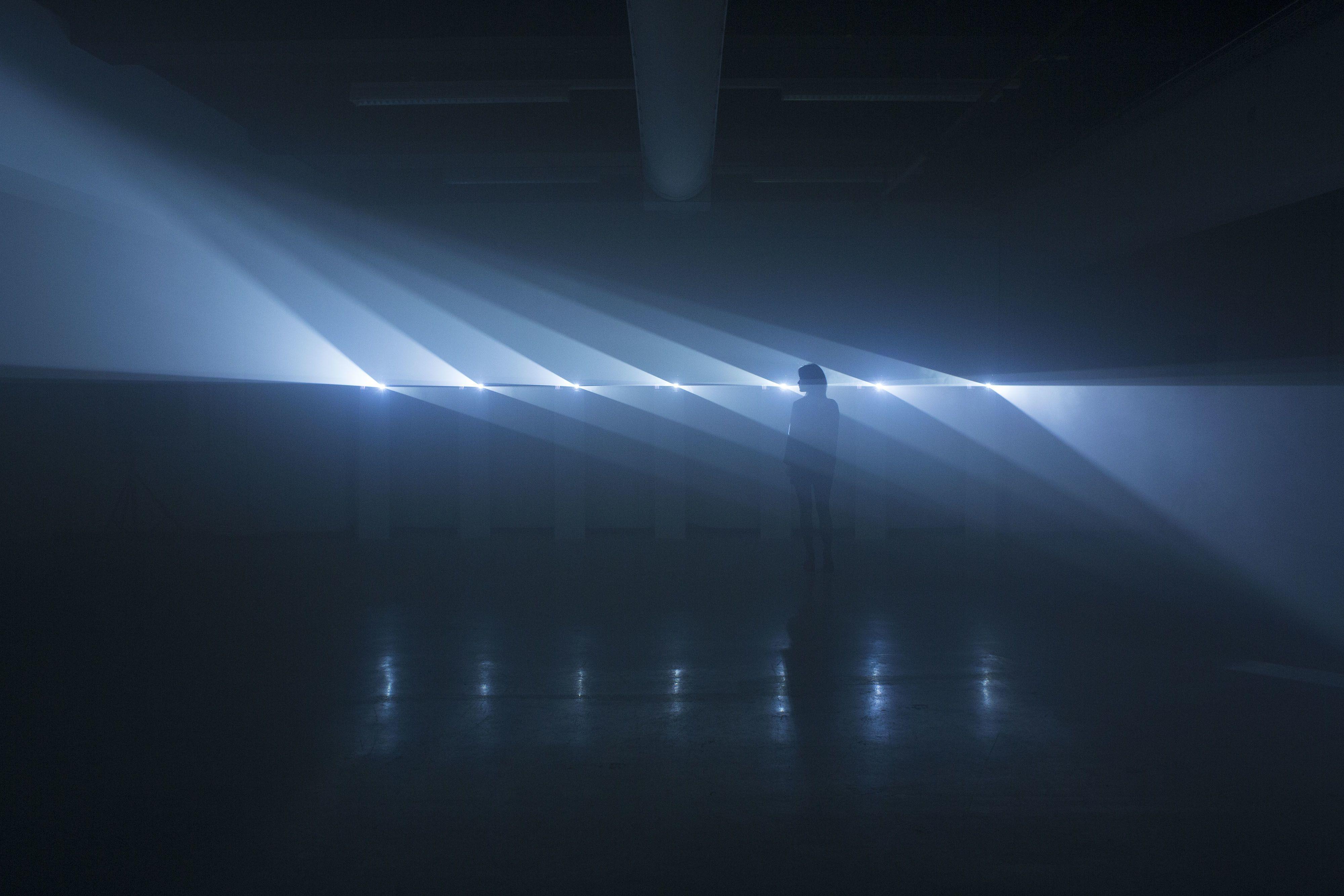 Les installations géométriques lumineuses de NONOTAK