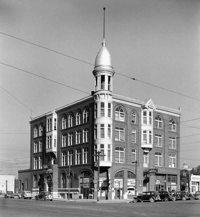 Salt Lake City Utah Hotels: The Union Pacific Hotel, November 21, 1936. In The Early
