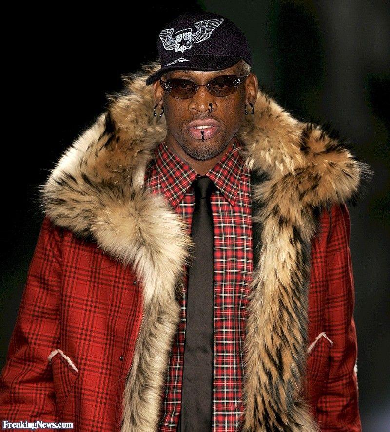 e48b9bb2 Pin by Patrick Crank on Men's fur coats/jackets | Dennis rodman, Fur ...