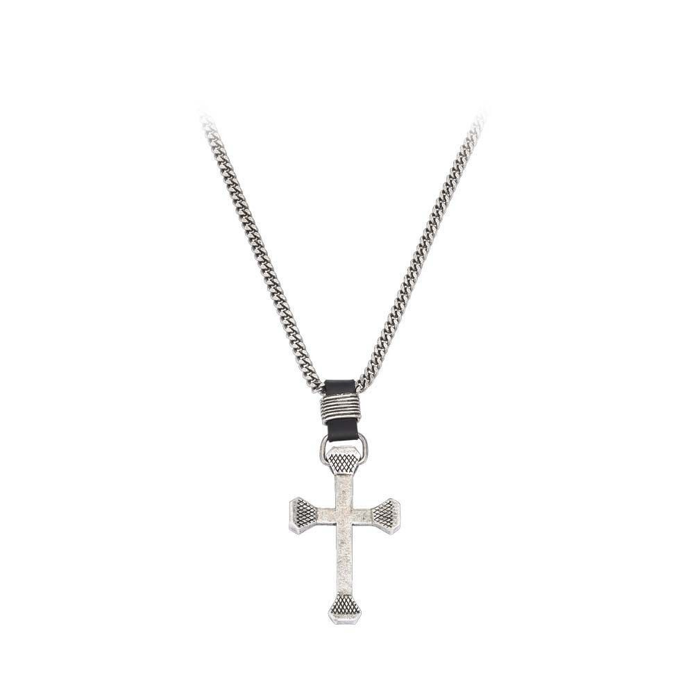 Montana Silversmith Men's Retro Cross Necklace [NC61509]