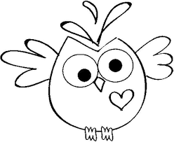 image result for cute owl colouring pages