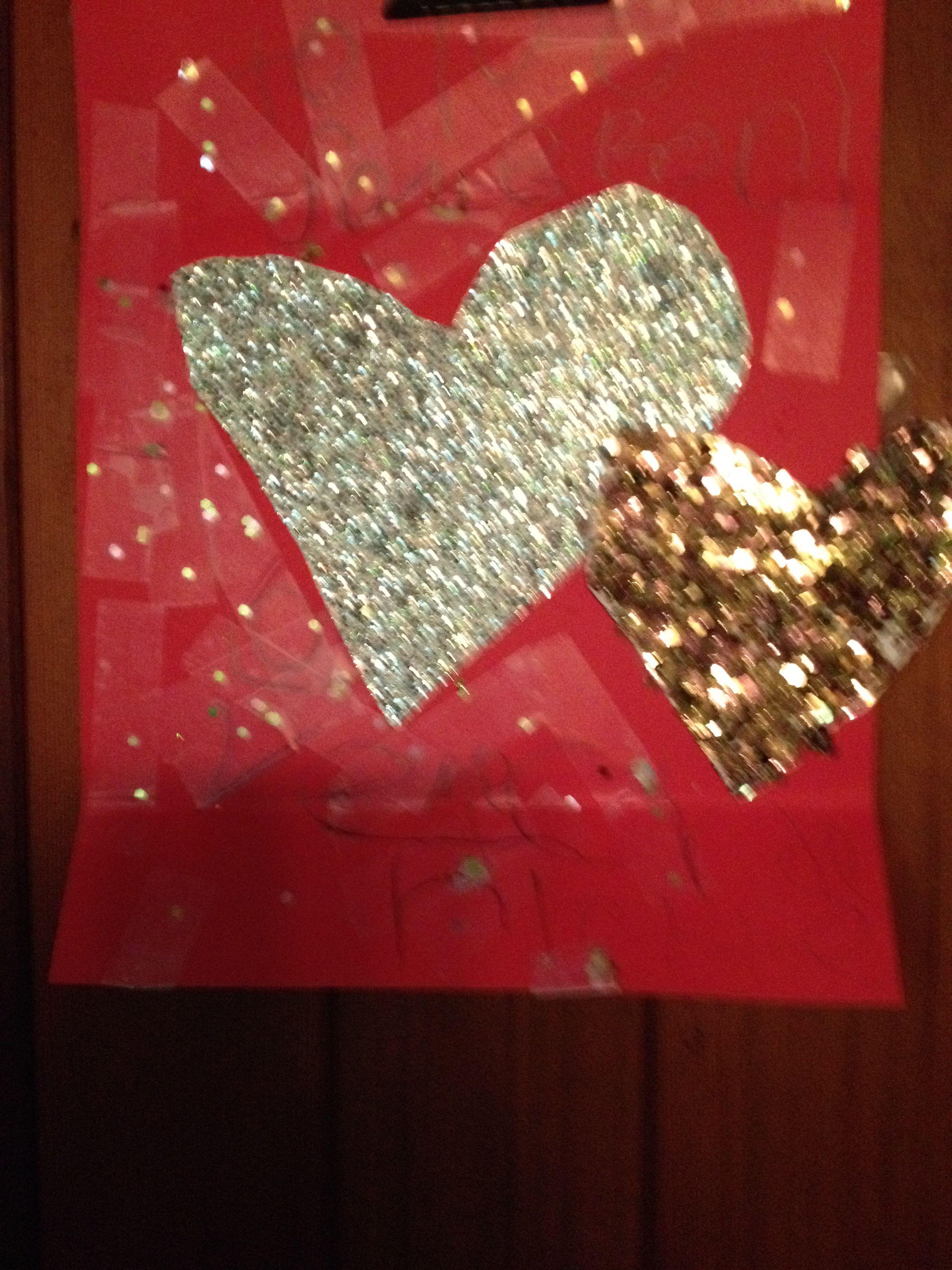 sparkly hearts...
